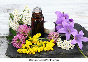 Essential oil from medical flowers