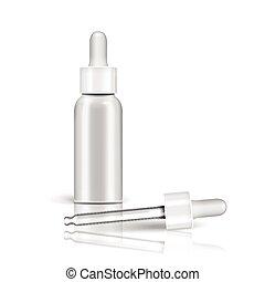 Essential oil glass bottle