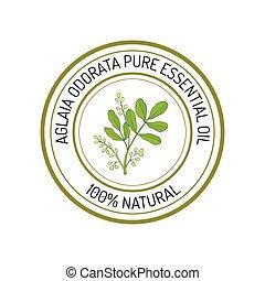 Essential oil label - Aglaia odorata, essential oil label, ...