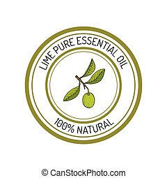 essential oil label, aromatic plant