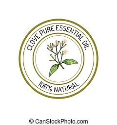 Essential oil label - Clove, essential oil label, aromatic ...