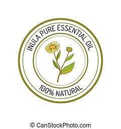 Essential oil label - Inula, essential oil label, aromatic ...