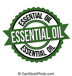 Essential oil label or sticker