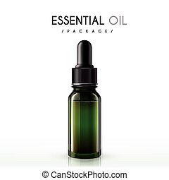 essential oil package isolated on white background