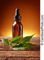 Essential oil - Pure organic essential oil in amber glass...