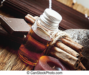 Essential Oil with Cinnamon and Chocolate