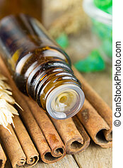 Essential oil with cinnamon