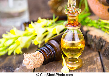 Essential oils and medical flowers