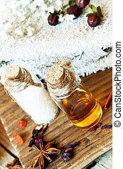 Essential Oils Aromatherapy.Spa Setting