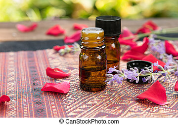 aromatherapy treatment with rose