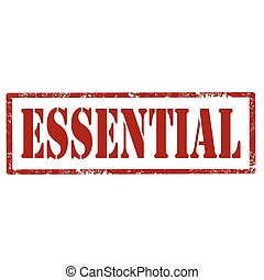 Essential-red stamp - Grunge rubber stamp with text...