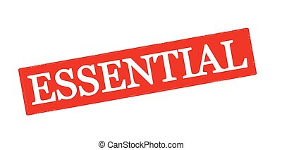 Essential - Rubber stamp with word essential inside, vector...