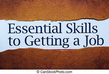 Essential skills to get job