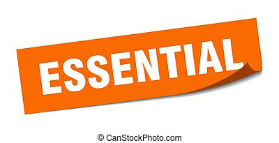 essential sticker. square isolated label sign. peeler - ...