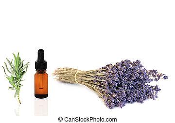 essentie, bloem, lavendel