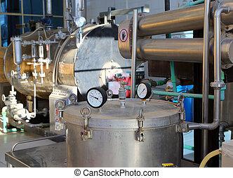 essentiel, distillation, usine, huiles