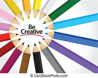 essere, colori, disegno, illustrazione, creativo