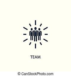 essere, concetto, illustration., web, semplice, simbolo, elemento, usato, lattina, squadra, icon., design.