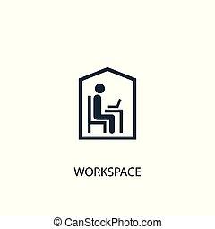 essere, concetto, illustration., web, semplice, simbolo, elemento, usato, lattina, workspace, icon., design.