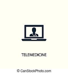 essere, concetto, illustration., web, semplice, simbolo, telemedicine, elemento, usato, lattina, icon., design.