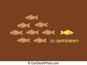 essere, differente, concetto, illustrazione, creativo, vettore