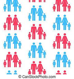 essere, differente, modello, seamless, qualsiasi, scalato, persona, ripetuto, color.(can, silhouette, size)
