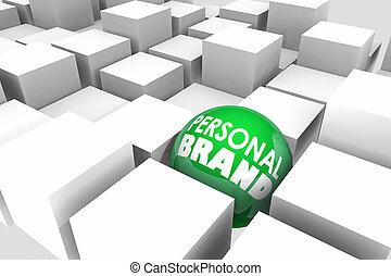 essere, differente, personale, marca, illustrazione, unico, speciale, 3d