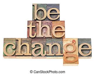 essere, legno, tipo, cambiamento