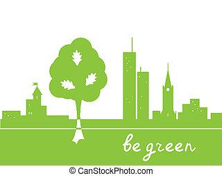 essere, verde