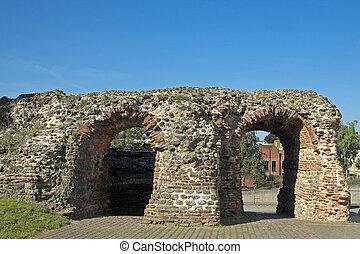 essex, balkerne, portão, colchester
