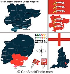 essex, wschód, anglia, uk