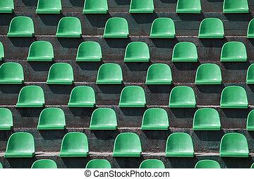 estádio, fundo, assentos