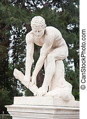 estátua, discobolus