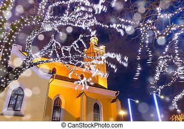 estónia, st., tallinn, igreja, john's, natal