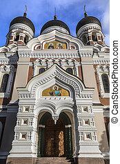 estónia, -, tallinn, nevsky, catedral, alexander