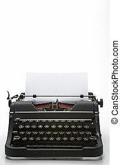 estúdio, antigas, tiro, formado, máquina escrever