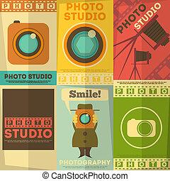 estúdio foto, cartaz