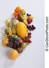 estúdio, fruta, tiro, fresco, variedade