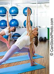estúdio, ioga, classe aptidão
