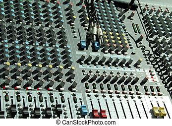 estúdio música, equipamento