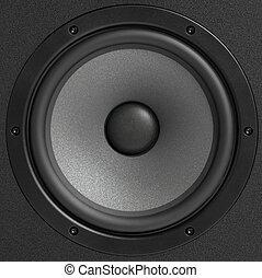 estúdio, orador, monitor