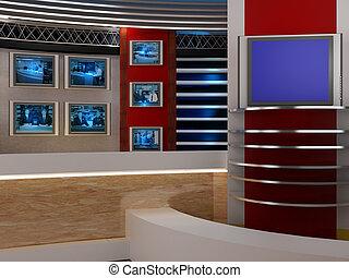 estúdio televisão