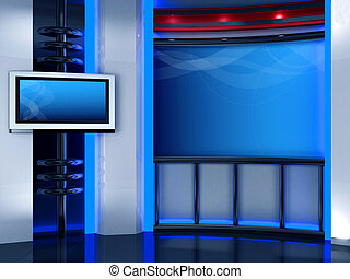 estúdio, tv