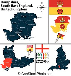 est, hampshire, angleterre, sud, royaume-uni
