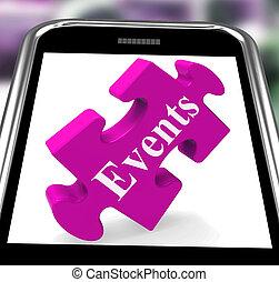 est, smartphone, spectacles, calendrier, evénements