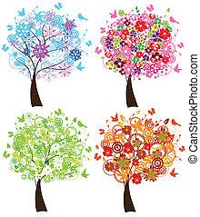 estação, árvores