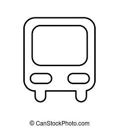 estação ônibus, isolado, ícone