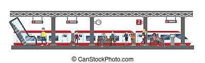 estação de comboios, illustration.