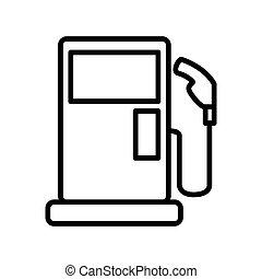 estação gás, desenho, ilustração