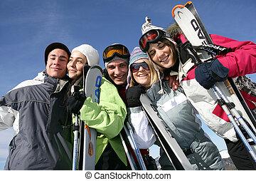 estação, pessoas, atletismos inverno